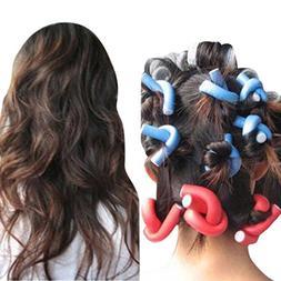 YJYdada 10PCS Curler Makers Soft Foam Bendy Twist Curls DIY