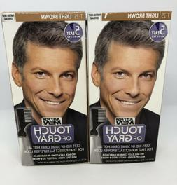 2 Pack Just for Men Touch of Gray Hair Treatment Light Brown