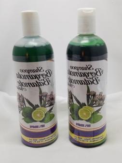2X Shampoo de Bergamota y Batamote Aukar, 500 ml /17.63 FlOz