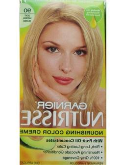 3 GARNIER NUTRISSE HAIR COLOR #90 LIGHT NATURAL BLONDE FREE