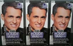 3 Pack JUST FOR MEN Touch of Gray Hair Treatment T-55 Black