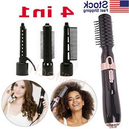 4 in1 Hair Straightener Curler Styler Negative Ions Curling
