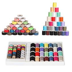 60pcs Sewing Machine Thread Kit Lot Kenmore Singer Brother S