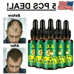 7 Day Ginger Germinal Hair Regrowth Serum Hairdressing Oil H