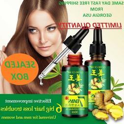 7 Day Ginger Germinal Hair Regrowth Serum Hairdressing Oil H