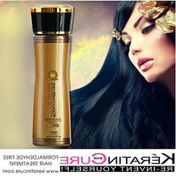 Keratin Cure 0% Formaldehyde Brazilian Hair Treatment Gold &