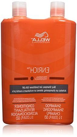 Wella Enrich Shampoo & Conditioner Fine to Normal Hair, Lite
