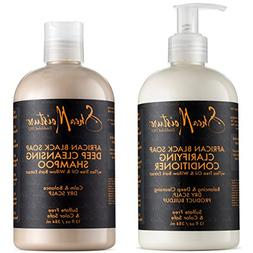 Shea Moisture African Black Soap Shampoo & Conditioner Set,