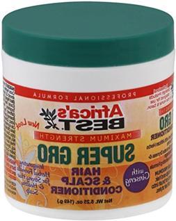 Africas Best Super Gro Maximum Hair&Scalp Conditioner 5.25oz