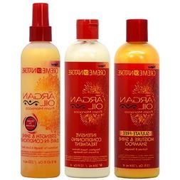 Creme of Nature Argan Oil Shampoo + Intensive Treatment + St