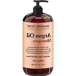 Argan Oil Shampoo by Majestic Pure - Vitamin Enriched Gentle