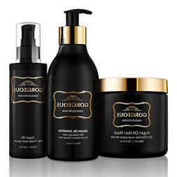 Argan Oil Hair Treatment Gift Set - 3 Piece:Argan Oil Shampo