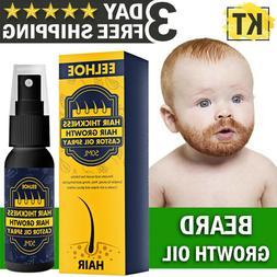 Beard Growth Oil Facial Hair Serum Care Product Mustache Fas