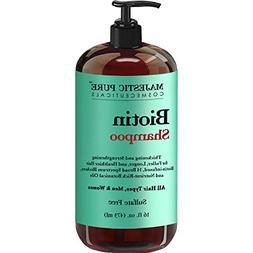 Majestic Pure Biotin Hair Shampoo - Hair Loss Shampoo for Th