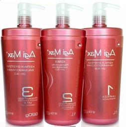 Agi Max Brazilian Keratin Hair Treatment Kit 1 liter - 3 Ste