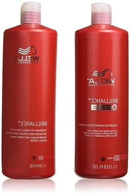 Wella Brilliance Conditioner for Coarse Colored Hair 33.8 Oz
