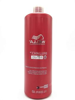Wella Brilliance Shampoo for Fine To Normal Colored Hair for