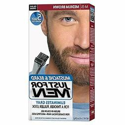 Just for Men Brush in Color Gel, Mustache and Beard, Medium