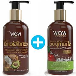WOW Apple Cider Vinegar Shampoo + Wow Hair Conditioner Set