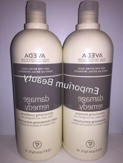 Aveda Damage Remedy Shampoo & Conditioner 33.8oz/1000ml Lite
