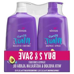 Aussie Paraben-Free Miracle Moist Shampoo and Conditioner Bu