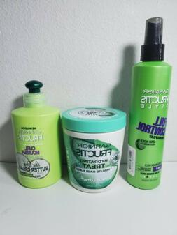 Garnier Fructis 3pc Set - Hairspray - Leave in Treatment - H