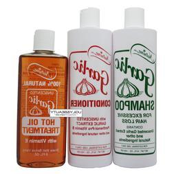 Nutrine Garlic Shampoo & Conditioner Unscented 16 Oz + Hot O
