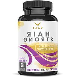 Hair Health Growth Vitamins with Biotin & Keratin - 60 Veggi