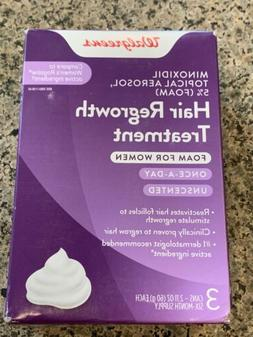 Hair Regrowth Treatment FOAM FOR WOMEN 3 MONTH SUPPLY Exp