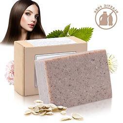 Handmade Hair Shampoo Bar - Organic Solid Soap Hair Treatmen