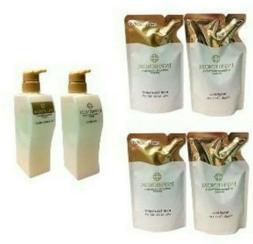 MILBON Inphenom Hair Shampoo 230ml & Treatment 230g Refill B