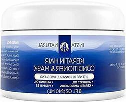 InstaNatural Keratin Complex Hair Mask - At Home Deep Condit