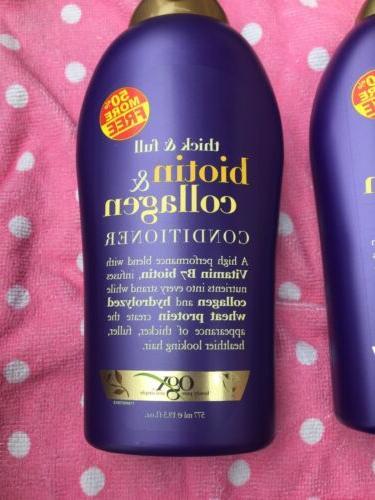 2 Thick & Collagen Shampoo &Conditioner 19.5ozEach
