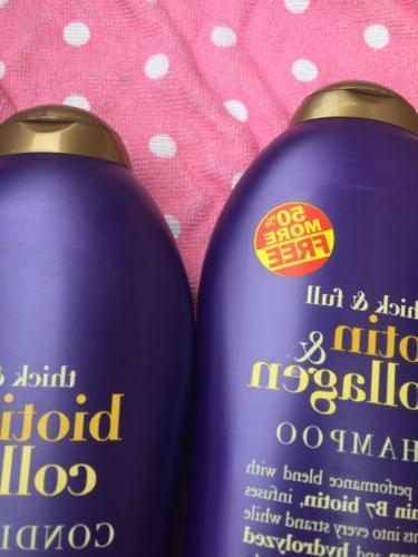 2 Thick & Full Biotin & Collagen Shampoo 19.5ozEach