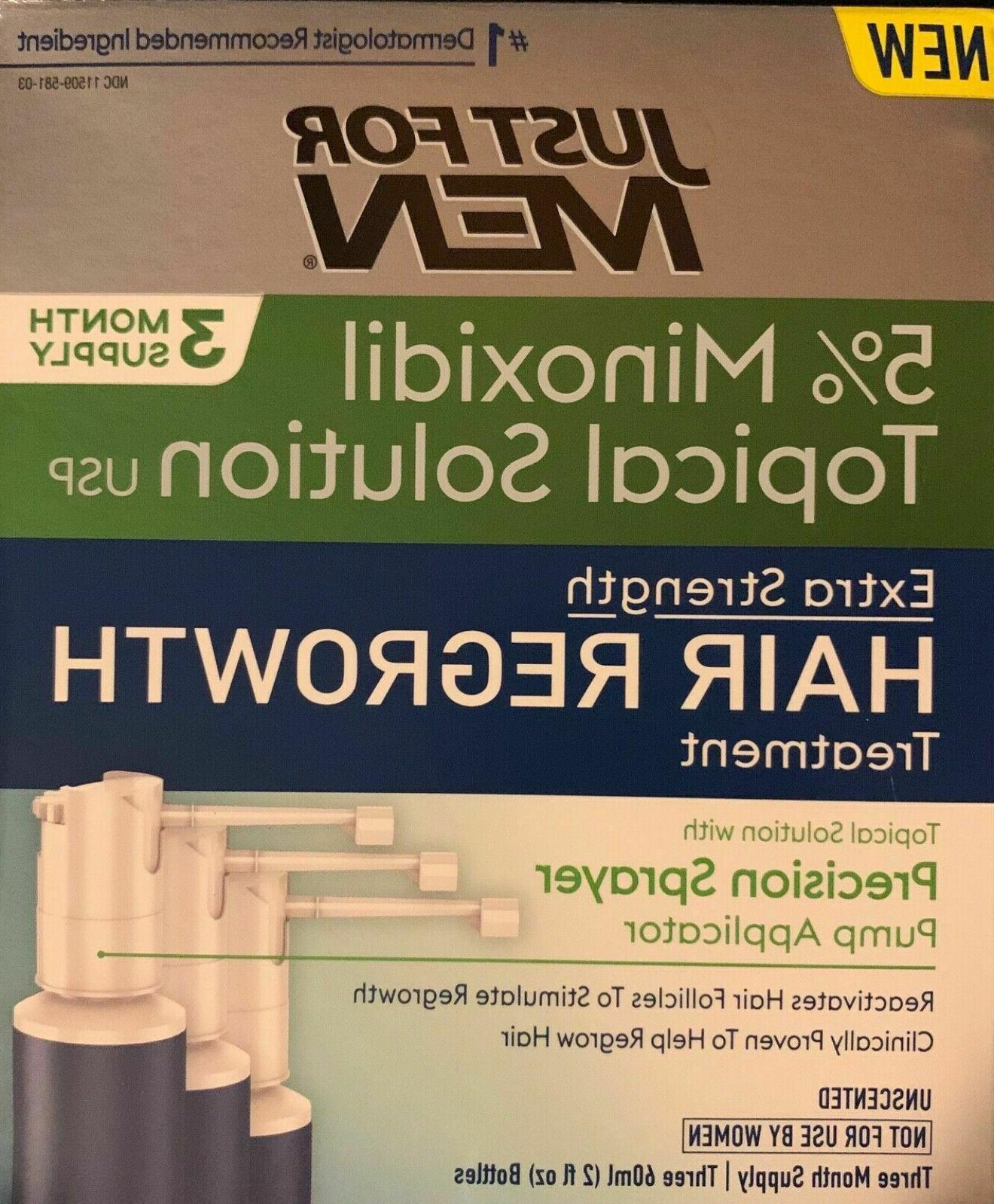 3 month hair loss treatment 5 percent