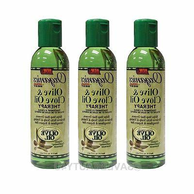 3Pc Africa's Best Organics Olive & Clove Oil Therapy Hair &