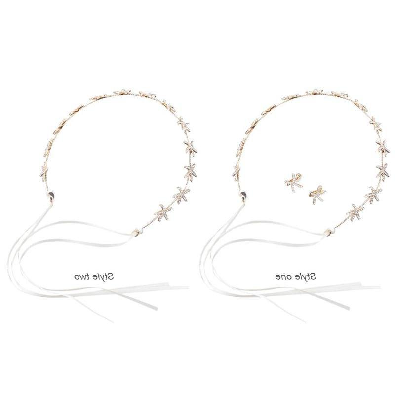 3pcs/set Women Elegant Headdress Electricity <font><b>Treatment</b></font> Rhinestone