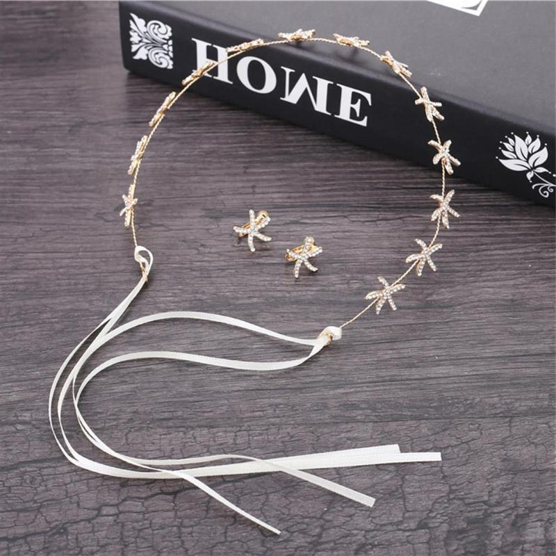 3pcs/set Women Elegant Alloy <font><b>Treatment</b></font> Process Sea Rhinestone Stud