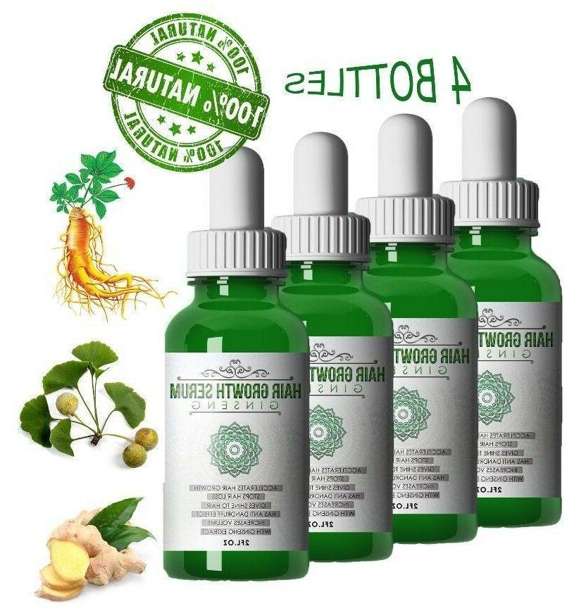 4 Ginseng Natural Hair Loss Treatment Fast ReGrowth DHT Bloc