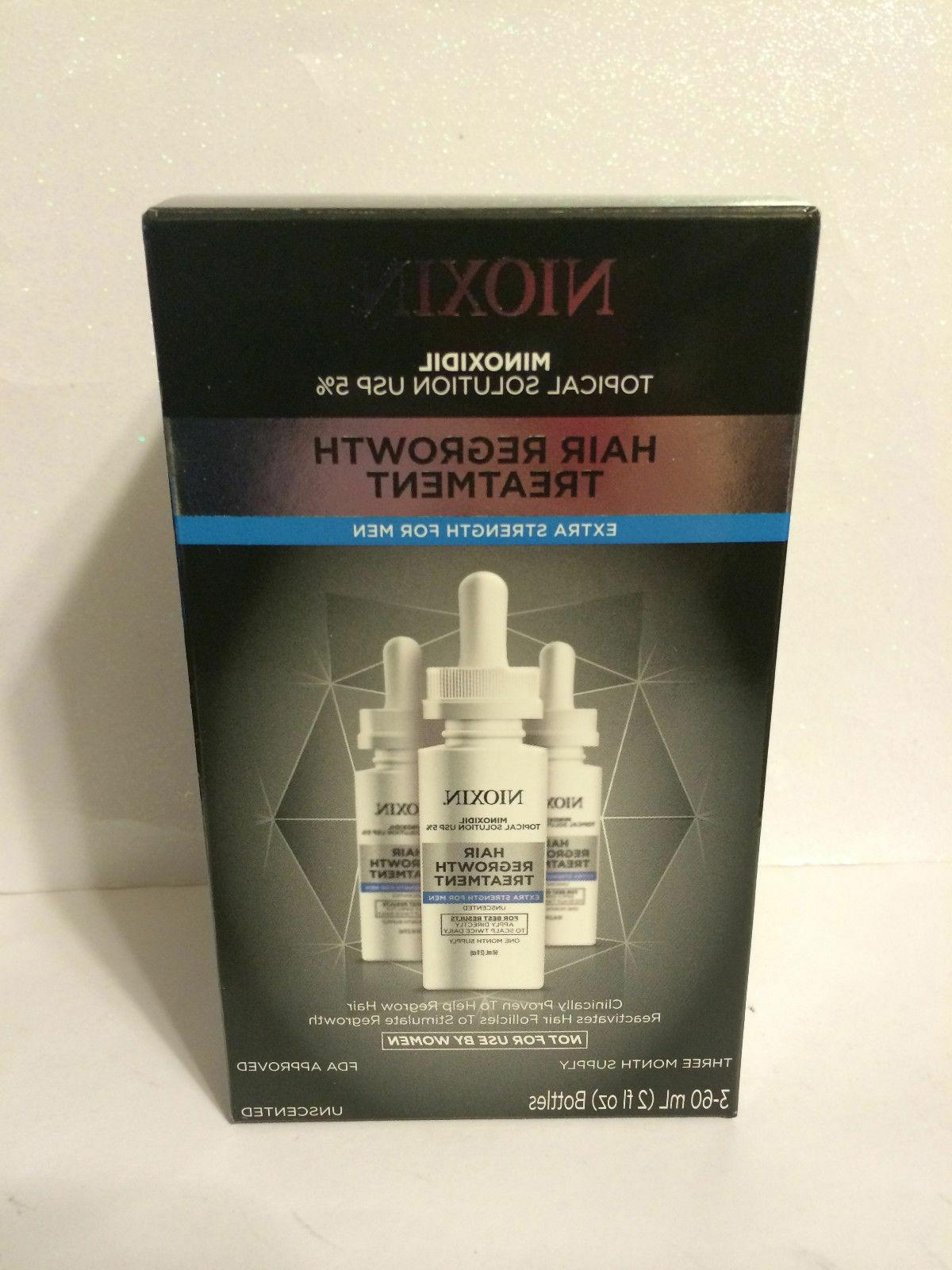 NIOXIN 5% MINOXIDIL HAIR REGROWTH TREATMENT FOR MEN 30 or 90