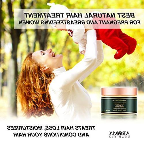 Aroma Premium Mask - Yolk Hair Women – Scalp & Root Treatment Ends Natural Ingredients & Dead – Moisturizes &