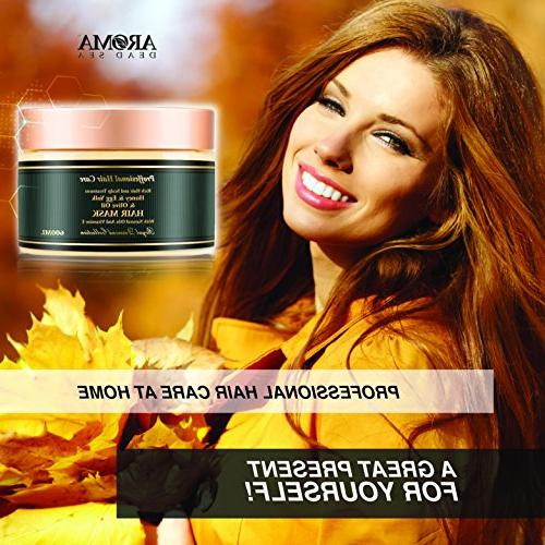 Aroma - Yolk Hair – Natural Root Treatment Damaged Ends & Minerals – Moisturizes & Hydrates