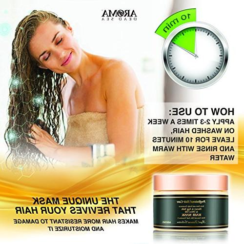 - 600ml, Yolk Hair Mask – Natural Scalp & Root Treatment Damaged Ends Natural Ingredients & Dead Sea –
