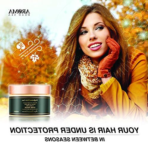 Aroma Premium Mask - Honey Yolk Olive Hair Mask Women – Root Treatment for Damaged Ends – Natural & Dead Sea –
