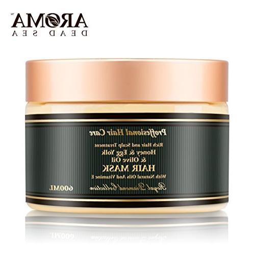 Aroma Premium Hair Mask - 600ml, Honey Egg Yolk Olive Oil Dr