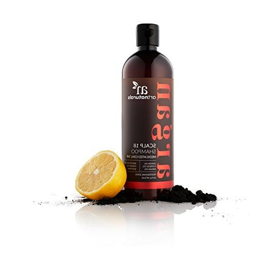 ArtNaturals Shampoo, Coal Tar Argan Oil, Scalp18 Therapeutic Anti-Itchy Scalp, Symptoms of and Organic, 16 oz.