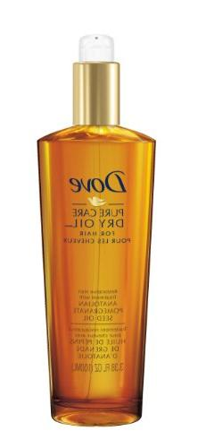 Dove Dry Oil, Pure Care Restorative Hair Treatment 3.38 oz