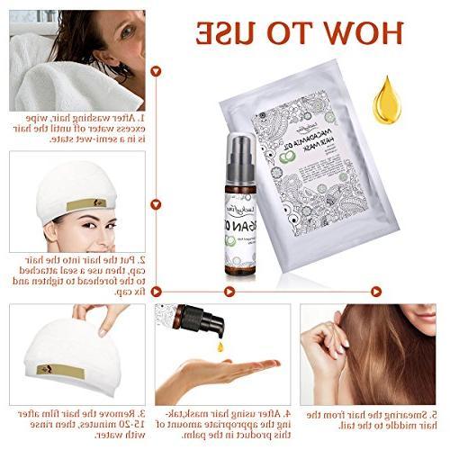 Hair Kit, LuckyFine Argan Treatment Mask Dry Hair, Nourishing Hair Masks 1PCS Oil
