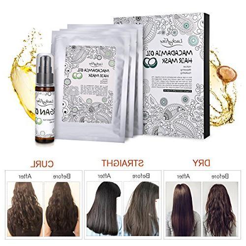 Hair Treatment Masks LuckyFine Argan Oil Treatment Damaged Hair, Deep Conditioner Mask Hair, Nourishing Hair Mask Masks Oil