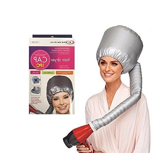 OMWAH Portable Hair Blow Dryer Cap Treatment Hood Soft Bonne